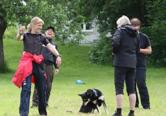 Det ska vara kul att träna hund! foto. A. Holmström